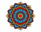 Desenho Mandala estrela decorada pintado por MI10