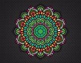 Desenho Mandala estrela decorada pintado por TEIA1972