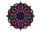 Desenho Mandala olhos pintado por TEIA1972