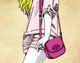 Menina com saco