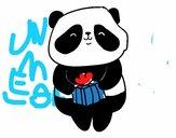 Panda com presente