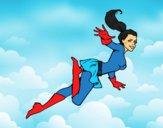 Desenho Supergirl pintado por S2Assilene