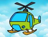 Desenho Um Helicoptero pintado por Arteando