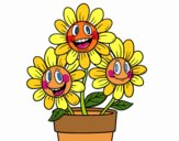 Desenho Vaso de flores pintado por Edilma