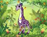 Desenho Girafa feminino pintado por manoell