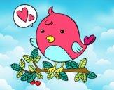 Desenho Pássaro do Twitter pintado por belli