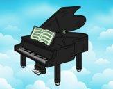 Um piano de cauda aberto
