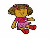 Desenho Boneca de brinquedo pintado por florbelinh