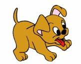 Desenho Cachorro pintado por tyty