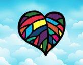Desenho Coração verde pintado por AlexViking