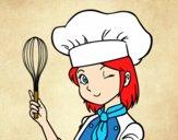 Desenho Cozinheira pintado por Aki-chan