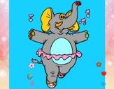Elefante com tutú