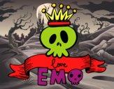 Desenho Love Emo pintado por elletronic