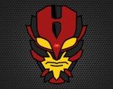 Desenho Máscara de super vilão pintado por DomiNico
