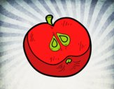 Metade de uma maçã