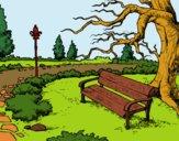 Desenho Paisagem da parque pintado por florbelinh