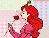 Desenho Princesa e rosa pintado por Aki-chan