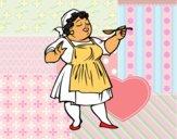 Senhora cozinheiro
