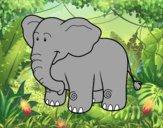 Desenho Um elefante Africano pintado por ameireles