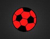 Uma bola de futebol