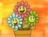 Desenho Vaso de flores pintado por ameireles