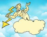 Zeus com um raio