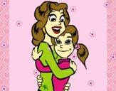 Mãe e filha abraçaram