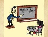 Desenho Professor de matemática pintado por Nanda91