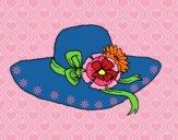 Desenho Chapéu por flores pintado por Sil