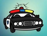 Desenho Carro de polícia pintado por Jujuli