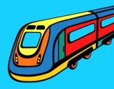 Desenho Comboio de alta velocidade pintado por josivan