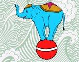 Desenho Elefante equilibrista pintado por Manoelaf