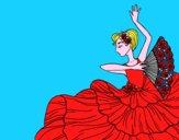 Desenho Mulher flamenco pintado por ViihGamer