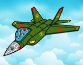 Desenho Avião caça pintado por gustavohe