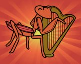 Gafanhoto com harpa