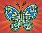 Desenho Mandala borboleta pintado por VovoMarcia