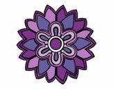Mandala em forma flor weiss