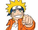 Desenho Naruto alegre pintado por ManuGamer4