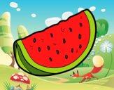 Desenho O pedaço de melancia pintado por pamelaslis