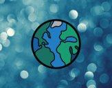 Desenho O Planeta Terra pintado por ImShampoo