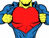 Desenho Peito de Super herói pintado por welinton12