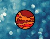 Desenho Planeta marte pintado por ImShampoo