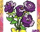 Desenho Ramo de rosas pintado por jmario