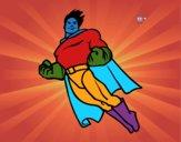 Desenho Superman a voar pintado por pamelaslis