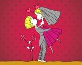 Você pode beijar a noiva asa