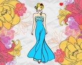 Desenho Vestido de casamento elegante pintado por bruanna