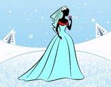 Vestido de casamento i véu