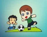 Desenho Futebol durante o recreio pintado por flamefenix