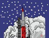 Desenho Lançamento foguete pintado por giovannws