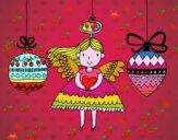 Anjo e enfeites de Natal
